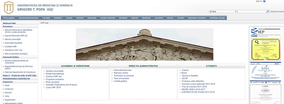 University's Website